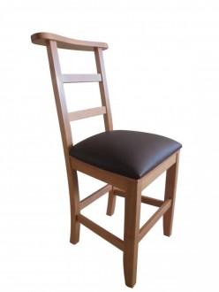 Chaise d'église garnie