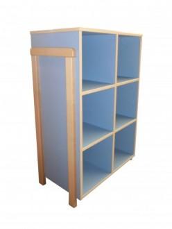 Meuble 6 casiers bleu
