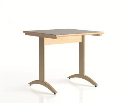 Lylou table avec pietement a degagement lateral 800x800