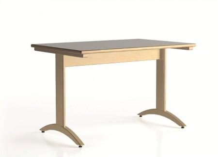 Lylou table avec pietement a degagement lateral 1200x800