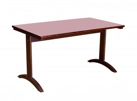 Lylou table avec pietement a degagement lateral 1400x800