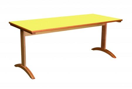 Lylou table avec pietement a degagement lateral 1600x800