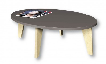 table basse ovale Woody