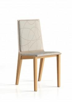 Chaise 4 pieds Wood garnie