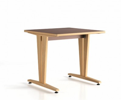 table 80x80 dégagement latéral Wood