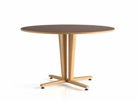 table D120 piétement central Wood