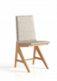 Chaise appui sur table Wood garnie