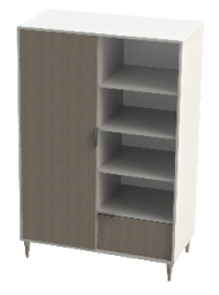 Armoire bibliothèque Agathe